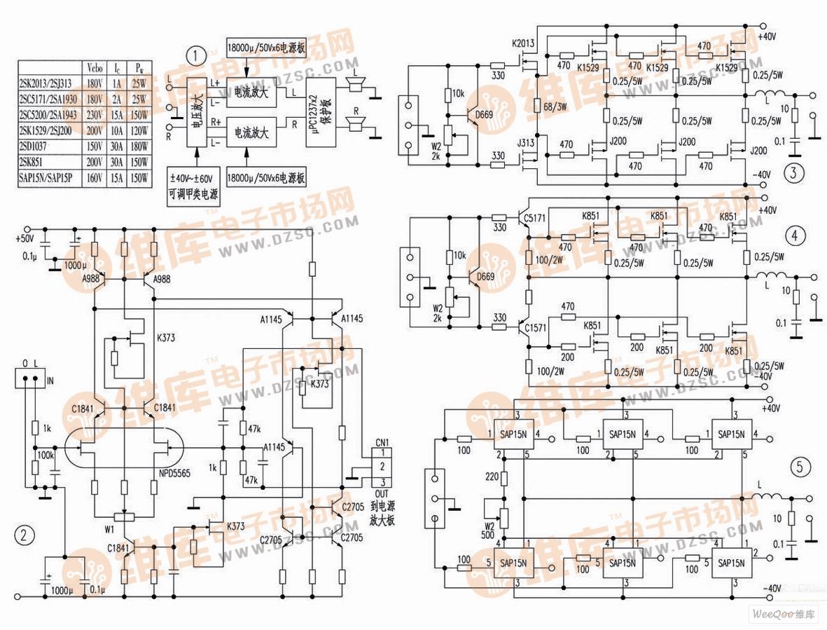 制作晶体管靓声甲类功放电路 许多发烧友都乐于制作功放,但多局限于一些单片集成功放如lm1875、lm3886、lm4766、tda7294等,用这些ic制作的功放其音质要好于市面上一些中、低档功放,但与一些高档hi-fi功放相比,音质仍有较大的差距。这里推荐几款容易制作的靓声甲类功放电路以供参考。其组成框图如图1所示。 该电路具有如下特点:1.