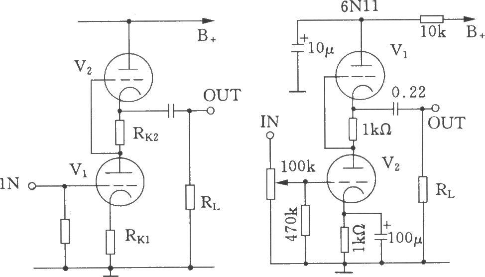 srpp电子管前级放大器电路图