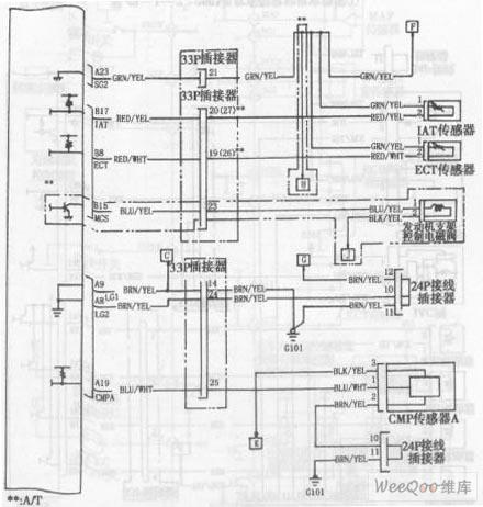 雅阁轿车2003年款车型发动机电路图三