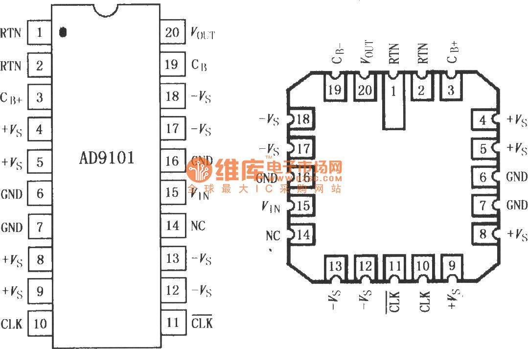 ad9101高速采样放大器-线性放大电路电路图