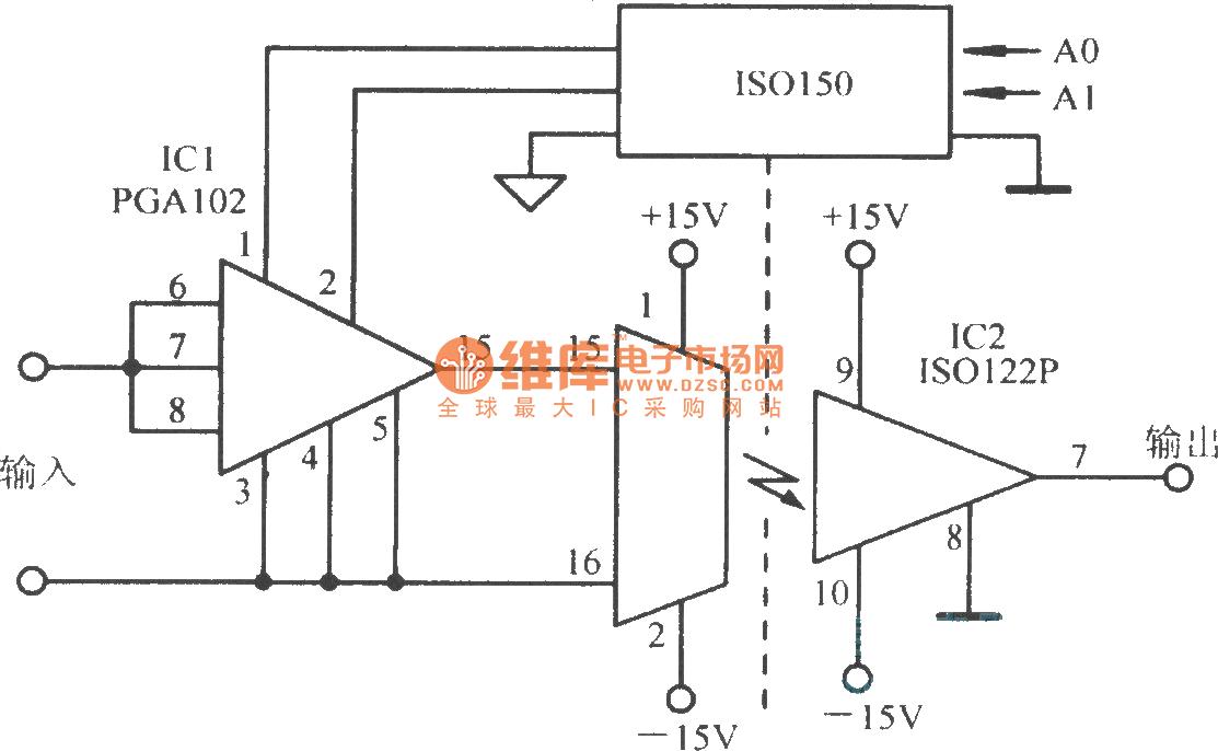 高速增益可编程隔离放大电路