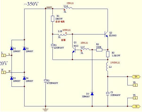 简单高效的led恒流驱动电路图