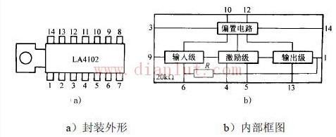 la4102的引脚排列,功用图和内部框图_基础电路_电路图