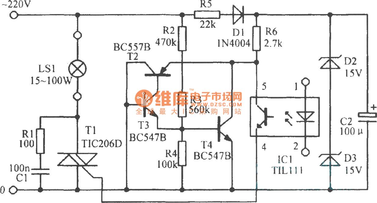 led信号放大电路-基础电路电路图