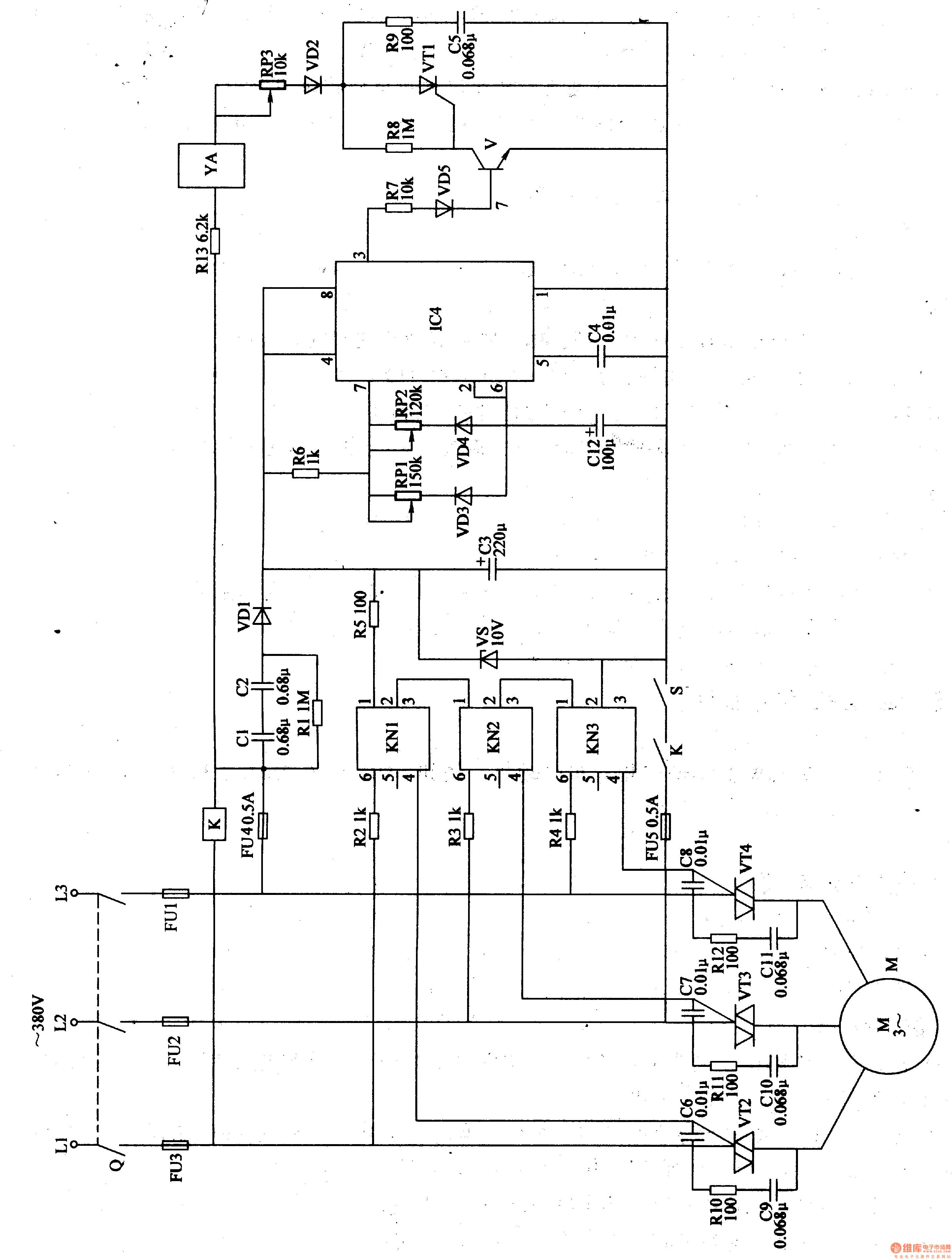 该自动投料控制器电路由电源电路