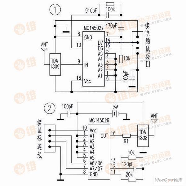 >>自制无线鼠标电路图