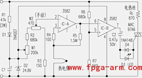 恒温电烙铁的工作原理及制作方法说明_电源电路_电路